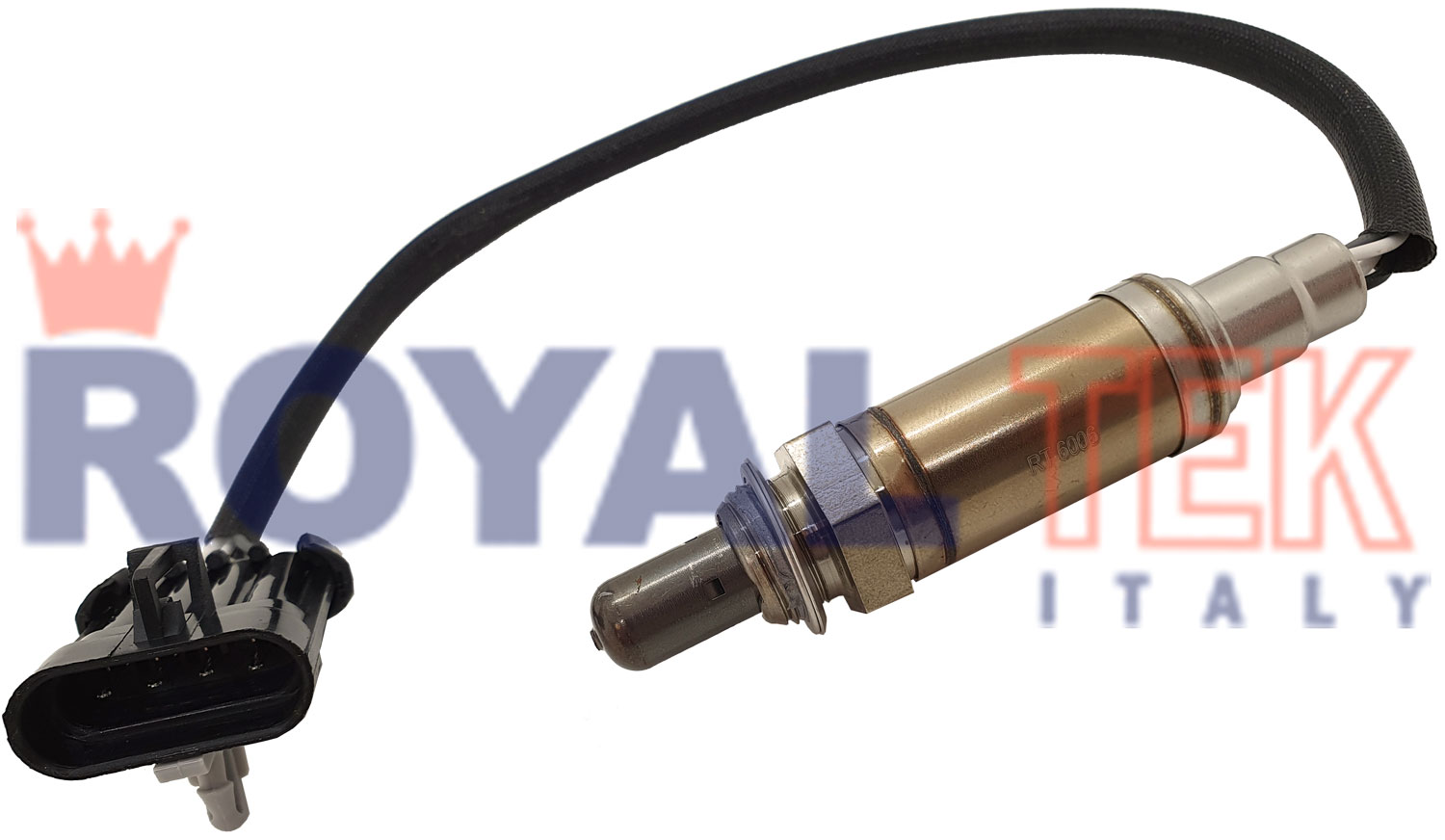 RT 6006 - SONDA LAMBDA ROYALTEK CHEVROLET CORSA 1.4 8V 2006 EN ADELANTE - 4 CABLES - LARGO DEL CABLE 295mm --- OEM 93338741